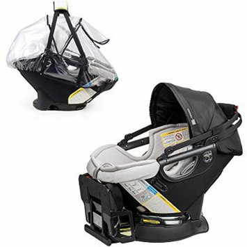 Orbit Baby G3 Infant Car Seat Plus Base w Large Clear Weather Pack (Black)