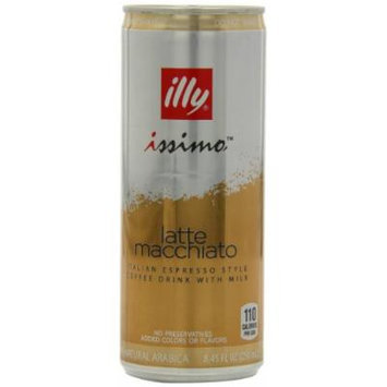 illy issimo Coffee Drink, Latte Macchiato, 8.45-Ounce Cans (Pack of 12)