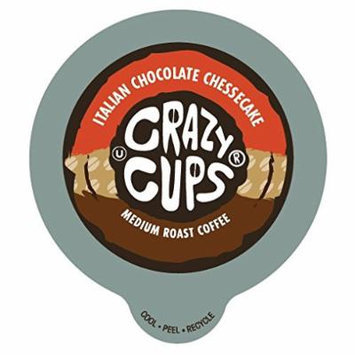 Crazy Cups Italian chocolate Cheesecake Flavored Coffee Single Serve Cups (22 count)
