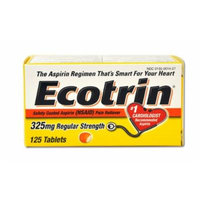 (Pack of 3) Ecotrin Safety Coated Tablets 325 Mg Regular Strength, 125 Count