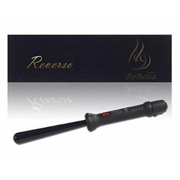 Bebella Reverso Conical Hair Curling Iron 25mm-13mm Ceramic Barrel with Heat Resisatant Glove (black)