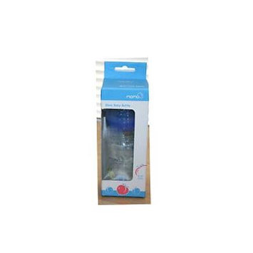 Momo Baby Glass Baby Bottle Blue 6 Oz. (BPA Free)