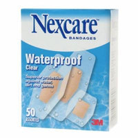 Nexcare Waterproof Clear Bandage, Assorted Sizes 50 ea Pack of 5