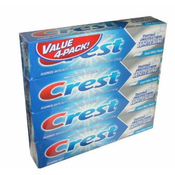 Crest Tartar Protection Whitening Cool Mint Paste Anticavity Toothpaste 8.2 Ounce Tube (Pack of 4)