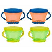 Nuby Snack Keeper - 4 Pack (Orange/Green)