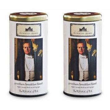 Republic of Tea Downton Abbey Grantham Breakfast Blend Tea, 36 Tea Bags Set of 2