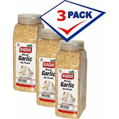 Monced garlig, dry by Badia. 1.5 lb jars. Pack of 3