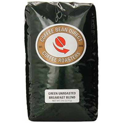 Green Unroasted Breakfast Blend, Whole Bean Coffee, 5-Pound Bag