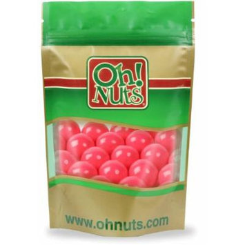 Pink Gumballs 1 Inch 2 Pound Bag - Oh! Nuts