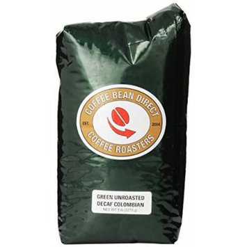 Green Unroasted Decaf Colombian, Whole Bean Coffee, 5-Pound Bag