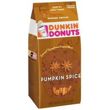 Dunkin Donuts Pumpkin Spice Ground Coffee 11oz Bag