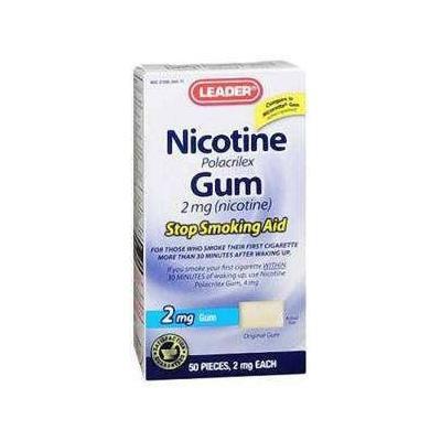 Leader Nicotine Gum 2mg Original 50 ct (pack of 3)