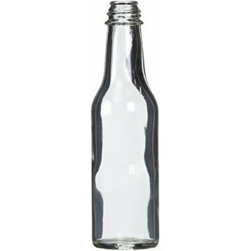 Hot Sauce Clear Glass Dasher Bottle - Empty - 5 oz - 12 Pack