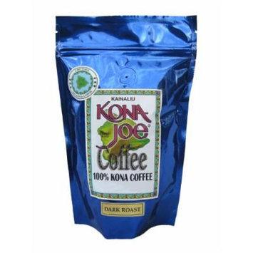 Kona Joe Coffee Kainaliu Dark Roast, Ground, 8-Ounce Bag