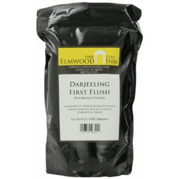 Elmwood Inn Fine Teas, Darjeeling First Flush (Finest Tippy Golden Flowery Orange Pekoe 1) Black Tea, 16-Ounce Pouch
