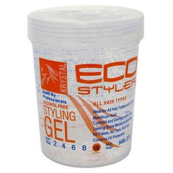 Eco Styler Styling Gel 32 oz. Krystal Clear (3-Pack) with Free Nail File