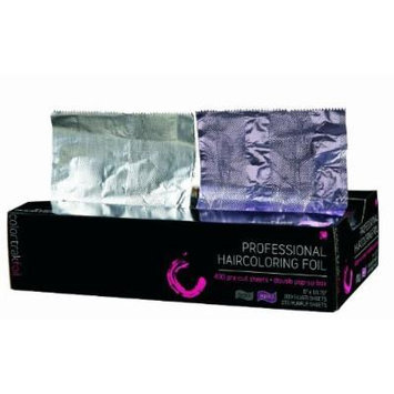 Colortrak Double Popup Professional Highlighting Foil, Purple and Silver, 400 Count, 1.2 Pounds