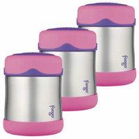 Thermos Foogo Leak-Proof Stainless Steel Food Jar, 10 Ounce - 3 Pack (Pink)