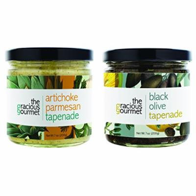 The Gracious Gourmet Tapenade Duo, Black Olive and Artichoke Parmesan , 14-Ounce