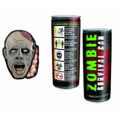 Zombie Survival Energy Drink And Zombie Brain Shaped Mint Candy