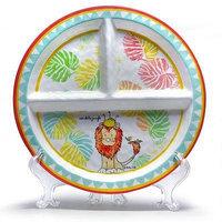 BABY CIE DANI Roi De La Jungle Round Textured Section Plate