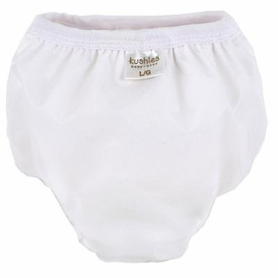 Kushies Taffeta Potty Training Pants - White (Medium)