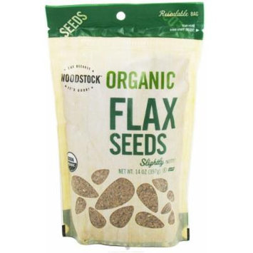 Woodstock Farms - Organic Flax Seeds - 14 oz (pack of 2)