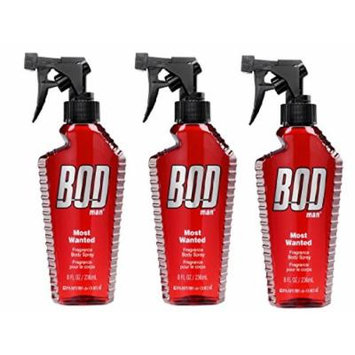 Bod Man - Mens Body Spray - Most Wanted -Pack of 3