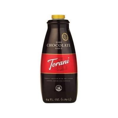 Torani Dark Chocolate Sauce - Case of 4 (64oz bottle)
