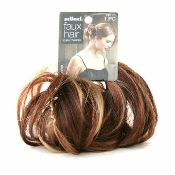 Scunci Faux Hair Curly Twister, Red Blonde 1 ea