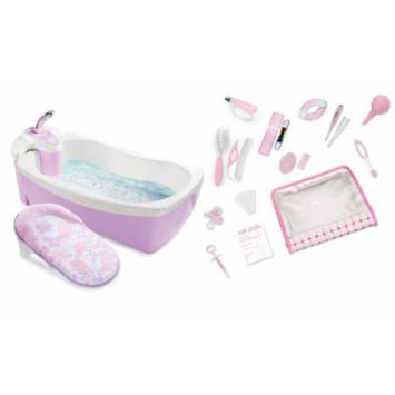 Summer Infant Lil' Luxuries Whirlpool, Bubbling Spa & Shower with Nursery Care Kit, Girl