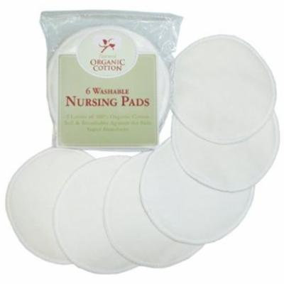TL Care 100% Organic Washable Reusable Soft Absorbent Cotton Nursing Pads 6 pack