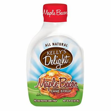 Kelly's Delight: 16 FL OZ (4 Pack) All Natural Maple Bacon Flavored Cane Syrup