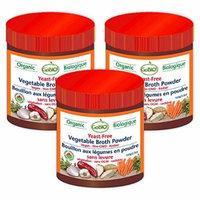 GoBIO! Organic Yeast-Free Vegetable Broth Powder - 3x3.5oz
