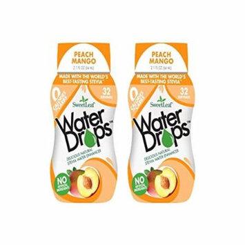SweetLeaf Peach Mango Waterdrops, 2.1oz (Pack of 2)