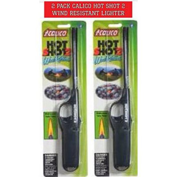 2 pack Calico HOT SHOT 2 Wind Resistant Lighters