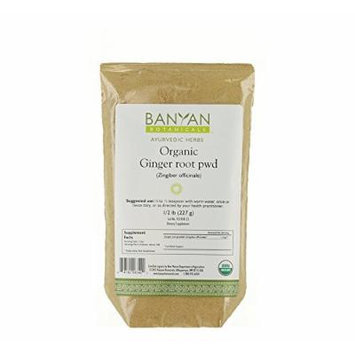 Banyan Botanicals Ginger Powder - Certified Organic, 1/2 lb - Zingiber officinale - Supports overall health, wellness and comfort