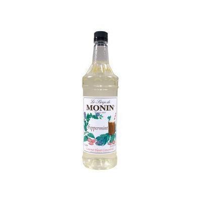 Monin Peppermint Syrup, 33.8-Ounce Plastic Bottle (1 liter)