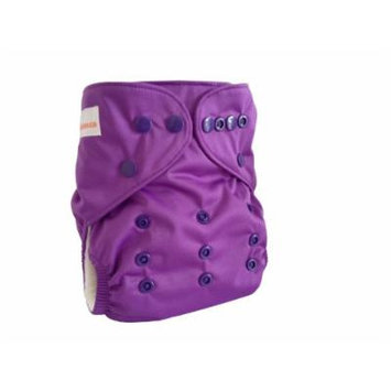 Charcoal Cloth Diapers - Solids (Purple)