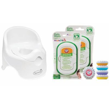 Summer Infant Lil' Loo Potty with Potty Wipes and Air Fresheners, White