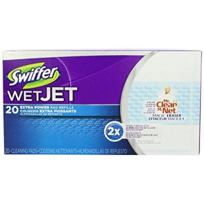 Swiffer Wetjet Pads with the Power of Mr. Clean Magic Eraser 40- (Extra-Powder-Pads)