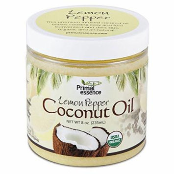 Primal Essence Coconut Oil, Infused Lemon Pepper, 0.5 Pound