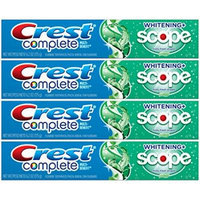 Crest Complete Whitening Plus Scope Minty Fresh Toothpaste, 6.2 Oz (Pack of 4)