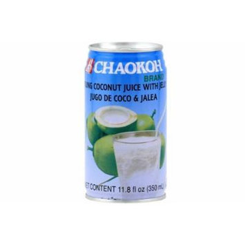 CHAOKOH - Young Coconut juice with jelly - 12 x 11.8 OZ. / 350 ml - Product of Thailand