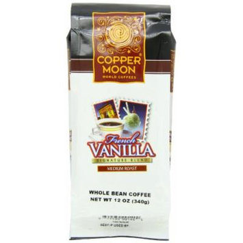Copper Moon French Vanilla Coffee, Medium Roast, Whole Bean, 12-Ounce Bags (Pack of 3)