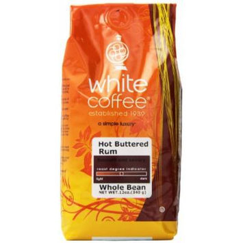 White Coffee Whole Bean Coffee, Hot Buttered Rum, 12 Ounce