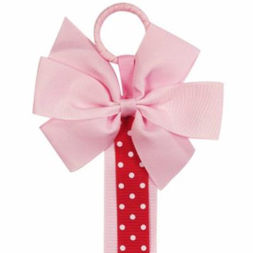 Wrapables Hair Clip and Hair Bow Holder, Pink Polka Dots