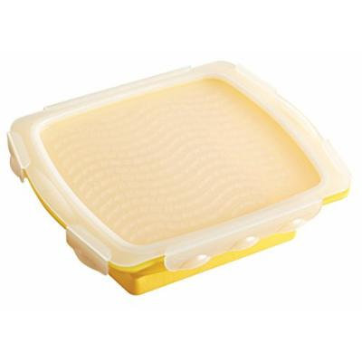 MR. BAR-B-Q 40280X Collapsible Silicone Mini Marinade Tray, Yellow
