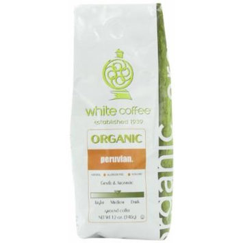 White Coffee Organic Ground Coffee, Peruvian, 12 Ounce
