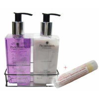 Pecksniff's Hand Wash Duo in Plum and Acai Berry & Vegan Organic Lip Balm in Spearmint
